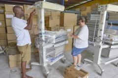 Uncrating Donations 2015