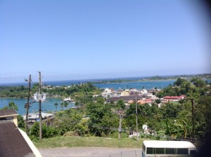Picture from top floor of the Port Antonio Hospital