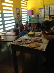 children in infant class at Free Hill Primary school